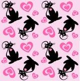 kota bezszwowy deseniowy Zdjęcia Royalty Free