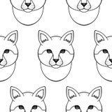 kota bezszwowy deseniowy Obraz Stock