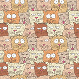 kota bezszwowy deseniowy Zdjęcie Royalty Free