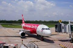 Kota bharu 2016年9月17日:飞机准备好上在哥打巴鲁机场吉兰丹马来西亚 库存照片