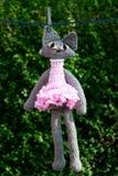 kota crochet sukni menchie Zdjęcia Stock