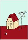 kota dom royalty ilustracja