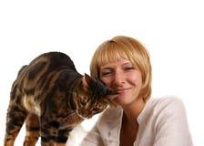 kota dziewczyny lampart Zdjęcia Stock