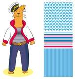 kota żeglarz Zdjęcia Royalty Free