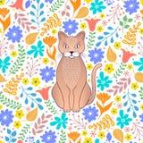 10 kota eps kwiat?w ilustraci wektor ilustracji