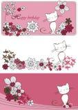 kota graficzny setu wektor Obrazy Royalty Free
