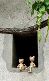 Kota i myszy przyjaciele fotografia stock