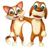 Kota i psa kolekcja royalty ilustracja