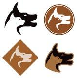 Kota i psa logo Fotografia Royalty Free
