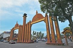 Sultan Ismail Petra Arch. The Sultan Ismail Petra Arch, in Kota Bharu, Kelantan state, Malaysia. It was erected to commemorate the declaration of Kota Bharu as a stock photos