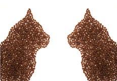 kota jedzenia kształt Obrazy Stock