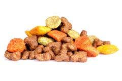 Kota jedzenie w postaci granul zdjęcia stock