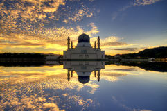 Kota Kinabalu City Floating Mosque, during a Sunrise Royalty Free Stock Photo