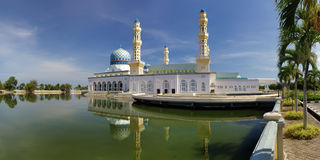 Kota-kinabalu city mosque. Under bright sun Royalty Free Stock Image