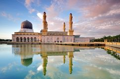 Kota Kinabalu City Mosque Fotografia Stock Libera da Diritti