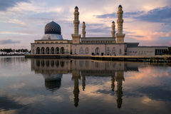 Kota Kinabalu city mosque Stock Photography
