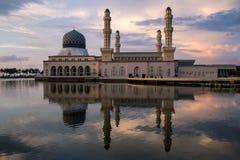 Kota Kinabalu city mosque stock photography