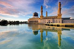 Kota Kinabalu City Mosque. Reflection of Kota Kinabalu City Mosque, Sabah Borneo Malaysia Stock Image