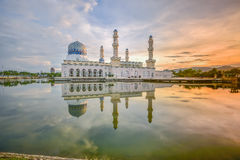 Kota Kinabalu City Mosque Sabah Borneo, Maleisië royalty-vrije stock foto's