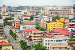Kota Kinabalu City Overview em Malásia imagem de stock