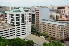 Kota Kinabalu City Overview em Malásia imagem de stock royalty free