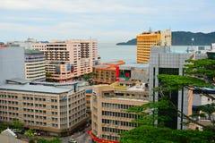 Kota Kinabalu City Overview em Malásia fotografia de stock royalty free