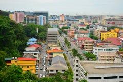 Kota Kinabalu City Overview em Malásia fotos de stock royalty free