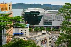 Kota Kinabalu City Overview em Malásia imagens de stock royalty free