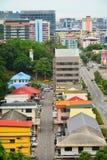 Kota Kinabalu City Overview em Malásia foto de stock