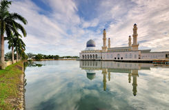 Kota Kinabalu Floating Mossue. Or City Mosque located in Kota Kinabalu Sabah Royalty Free Stock Photos