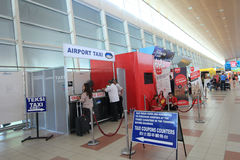 Kota Kinabalu International Airport arkivfoto