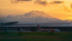 Kota Kinabalu International Airport arkivbild