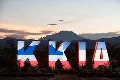Kota Kinabalu International Airport royaltyfria bilder