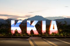 Kota Kinabalu International Airport royaltyfria foton