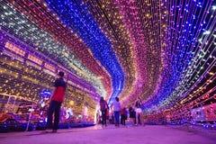 Kota Kinabalu Light Fantasy royaltyfri fotografi