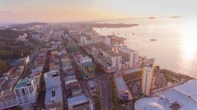 Kota Kinabalu Sabah Drone royaltyfri bild