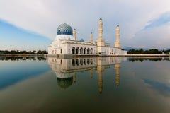 Kota Kinabalu spławowy meczet Obraz Royalty Free