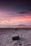 Kota Kinabalu Tanjung Lipat Sunset Royalty-vrije Stock Afbeeldingen