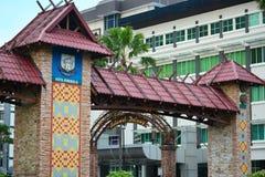 Kota Kinabalu Welcome Arch i Malaysia fotografering för bildbyråer