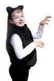 kota kostiumowa dziewczyny kiciunia Fotografia Royalty Free