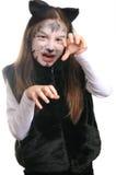 kota kostiumowa dziewczyny kiciunia Zdjęcia Stock