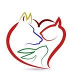 Kota królika i ptaka loga psi wektor Zdjęcia Royalty Free