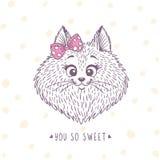 Kota nakreślenia doodle Fotografia Royalty Free