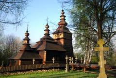 Kotań orthodox church in Polish Beskid Niski mountains Royalty Free Stock Image