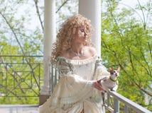 kota przyrodni długości portreta princess taras Zdjęcie Royalty Free