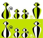 kota rodziny sety stylizowali dwa Obraz Stock