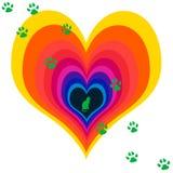 kota serc miłości zwierzę domowe Obrazy Stock