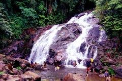 Kota Tinggi vattenfall Arkivbilder
