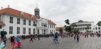 Kota Tua Hall Area, Noord-Djakarta - Indonesi? royalty-vrije stock afbeelding