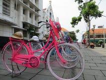 Kota Tua, Jakarta. Batavia old city. Bicycle rental in Fatahillah Square, Kota Tua. Batavia old city Stock Image
